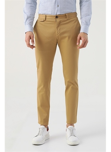 TWN Twn Slim Fit Camel Armürlü Chino Pantolon Camel